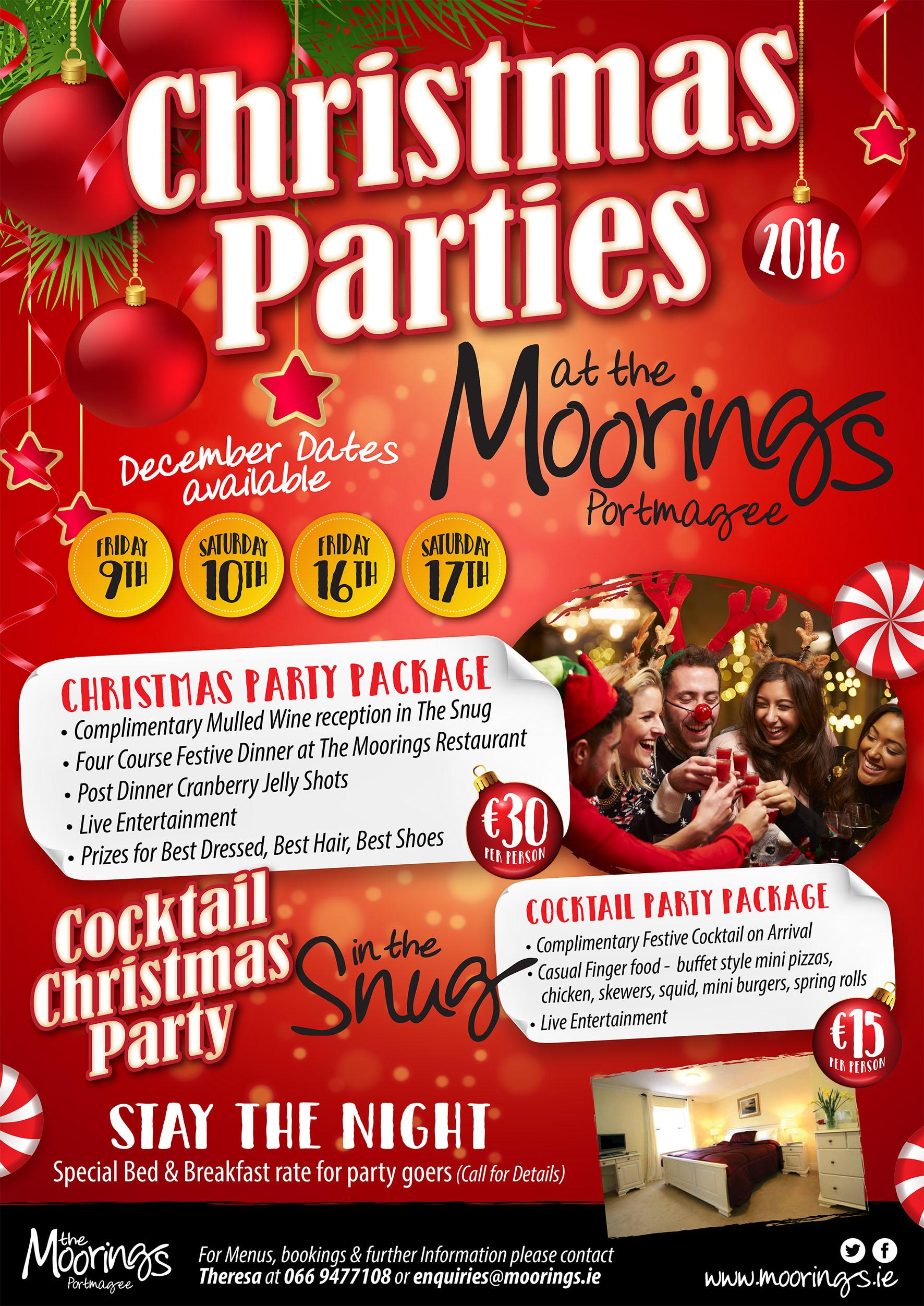 Christmas Party Time Images.Book Your Christmas Party Night Here The Moorings Portmagee