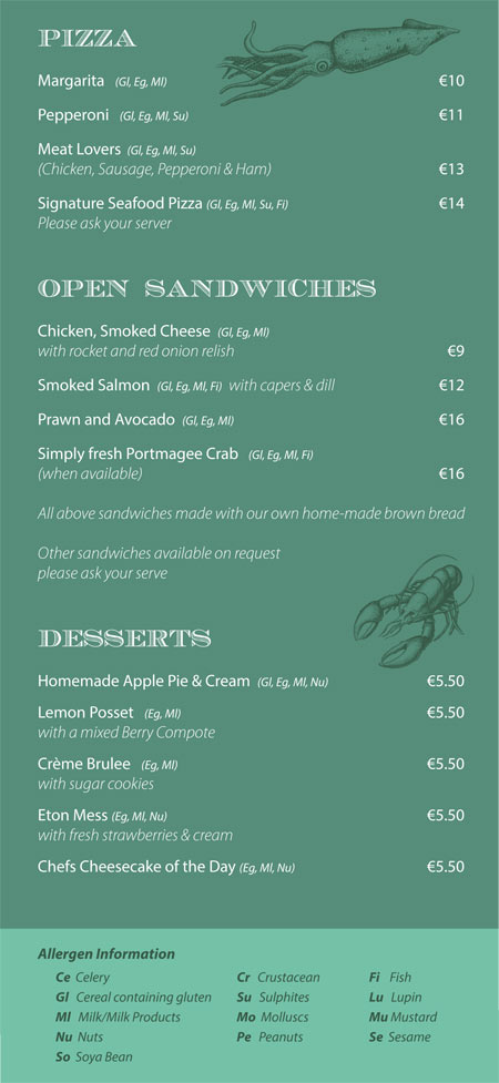 Main meals bridge bar portmagee