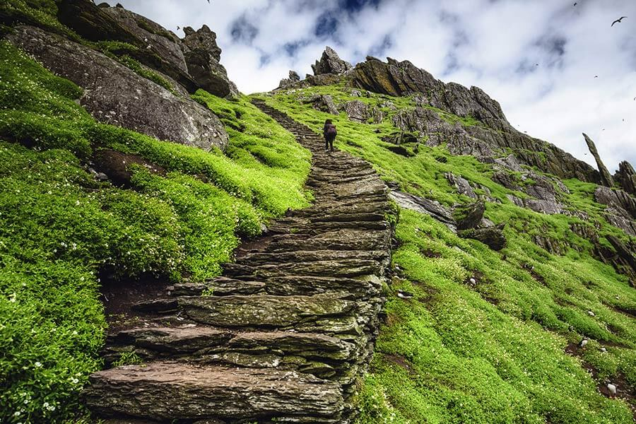 Climbing Skellig Michael