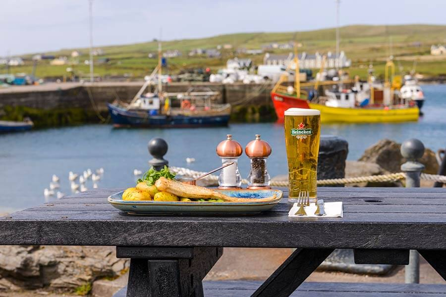 Food at the Moorings Portmagee